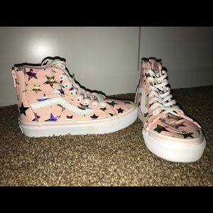 Youth Star Vans High Tops size 13